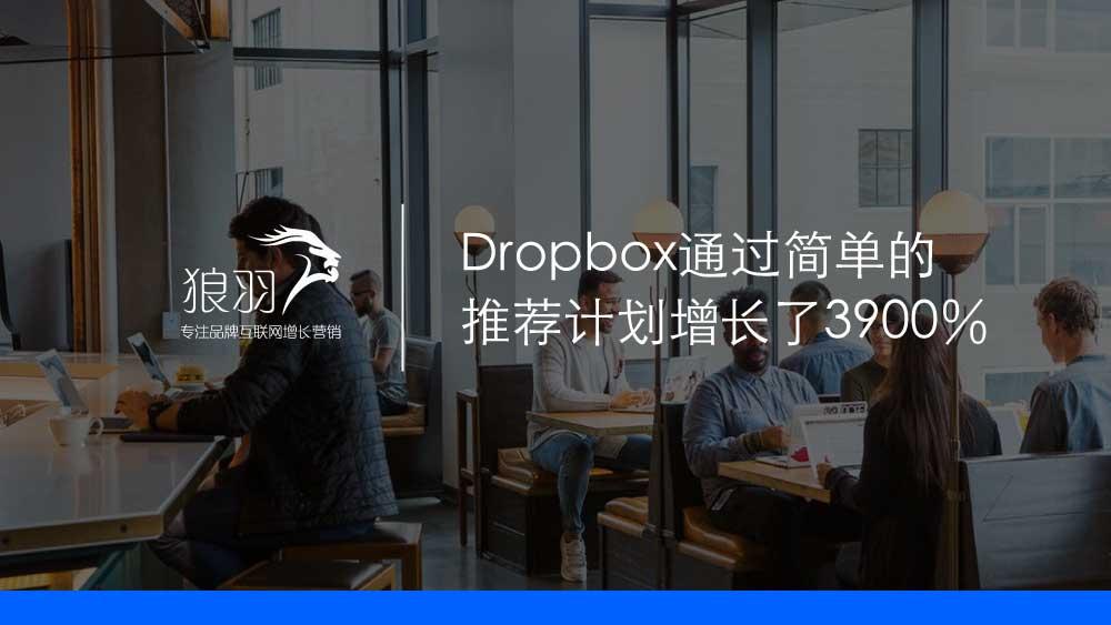 狼羽网络:Dropbox通过简单的-推荐计划增长了3900%