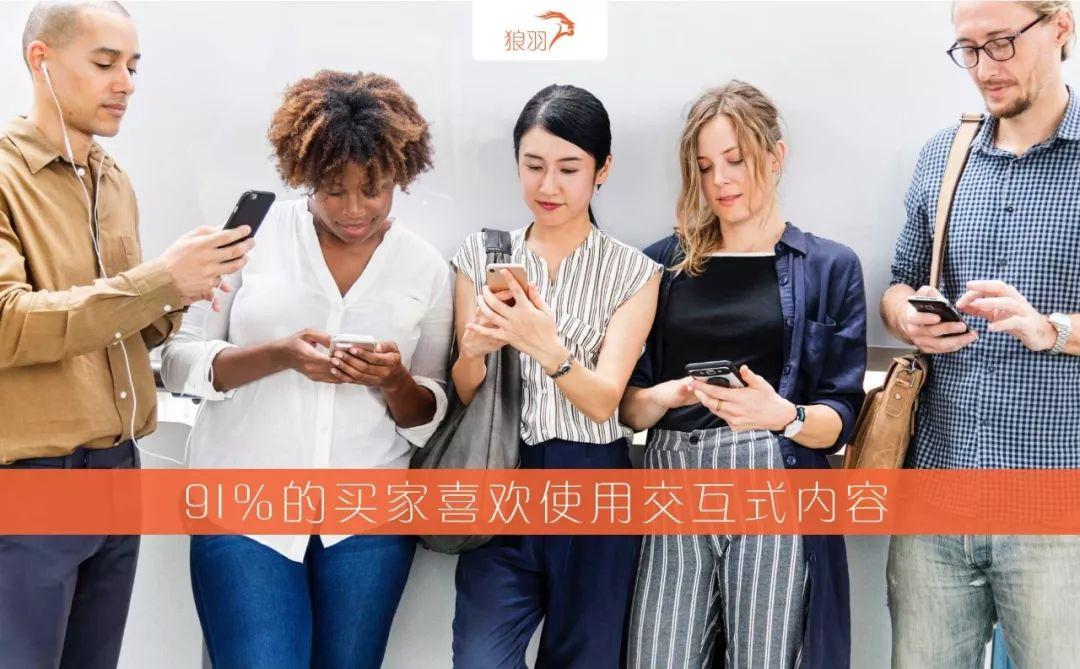 狼羽网络发现91%的买家喜欢使用交互式内容